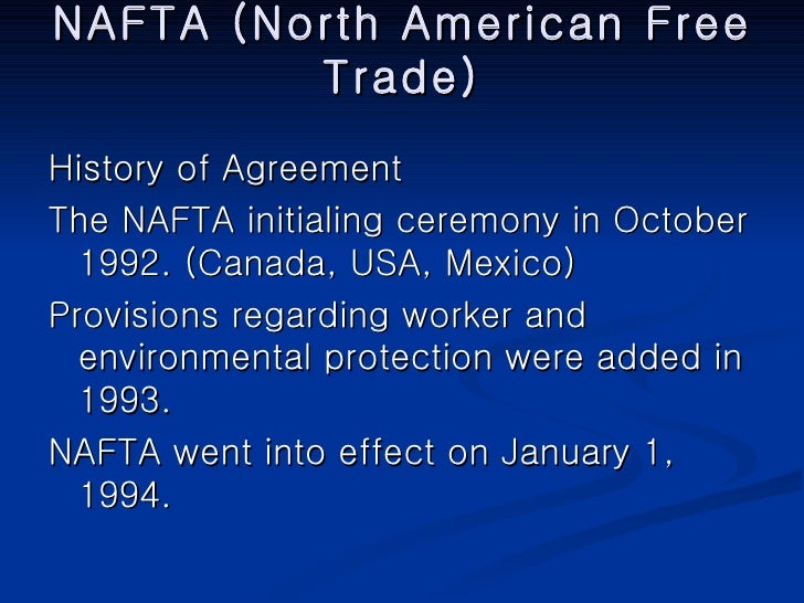 the role and impact of the north american free trade agreement nafta This article examines the economic impact of the north american free trade agreement (nafta) on western new york (wny) a variety of theoretical perspectives are reviewed, notably impact assessment evidence from a survey of local industrial firms suggests that nafta has not played an especially .