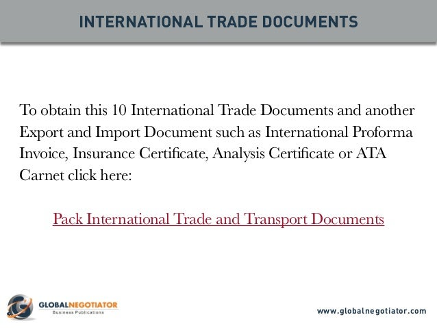 international trade documents The international trade administration (ita) is charged with strengthening the competitiveness of us industry, promoting trade and investment, and ensuring fair trade and compliance with trade laws and agreements.