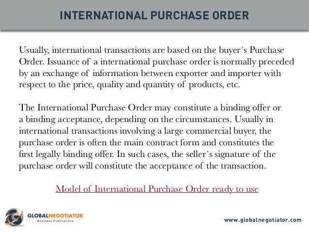 International Trade Documents 10 Top Documents – Sample Local Purchase Order
