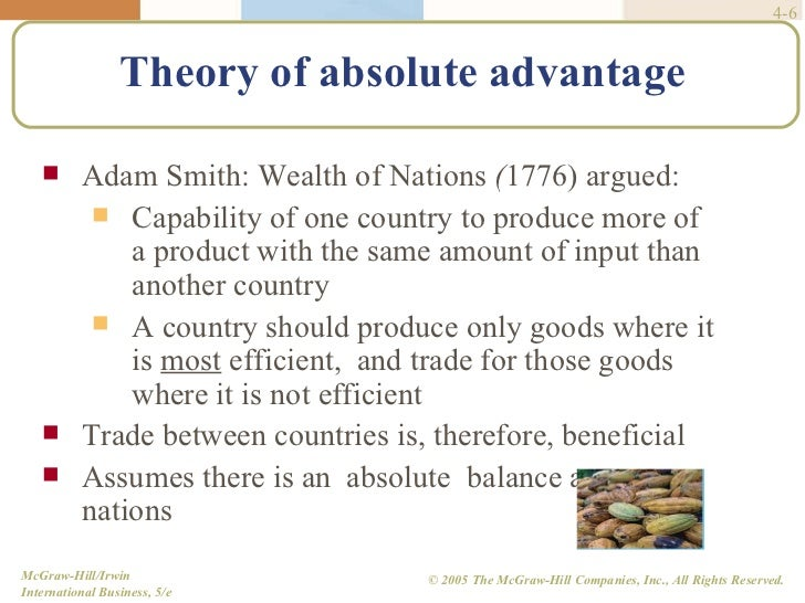 theories of international trade by adam smith pdf