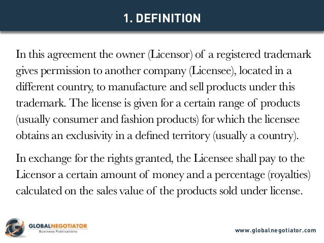 International Trademark License Agreement  Contract Template And Sam