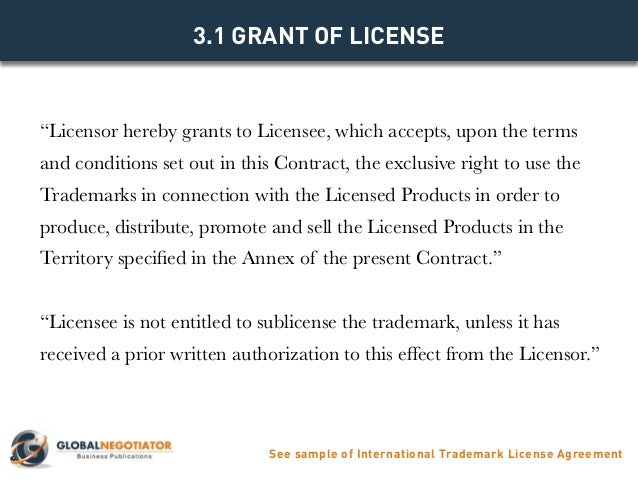 INTERNATIONAL TRADEMARK LICENSE AGREEMENT - Contract Template and Sam…