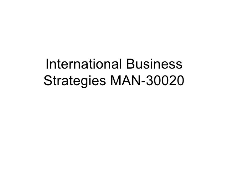 International Business Strategies MAN-30020