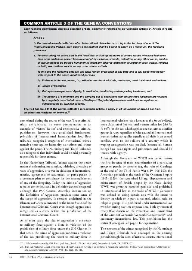 geneva convention common article 3