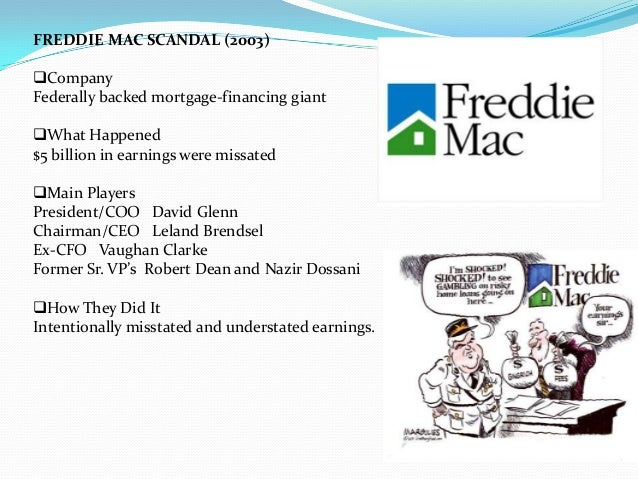the fannie scandal A debate has erupted anew in washington over whether fannie mae and freddie mac caused the credit crisis why fannie and freddie are not to blame for not regulatory inaction, for the crisis wrote brooks: the fannie mae scandal is the most important political scandal since.