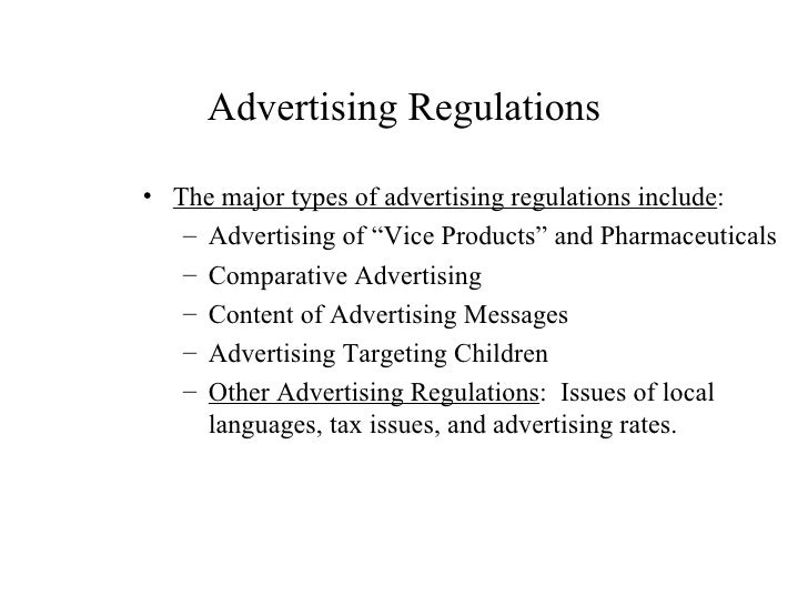 types of international advertising