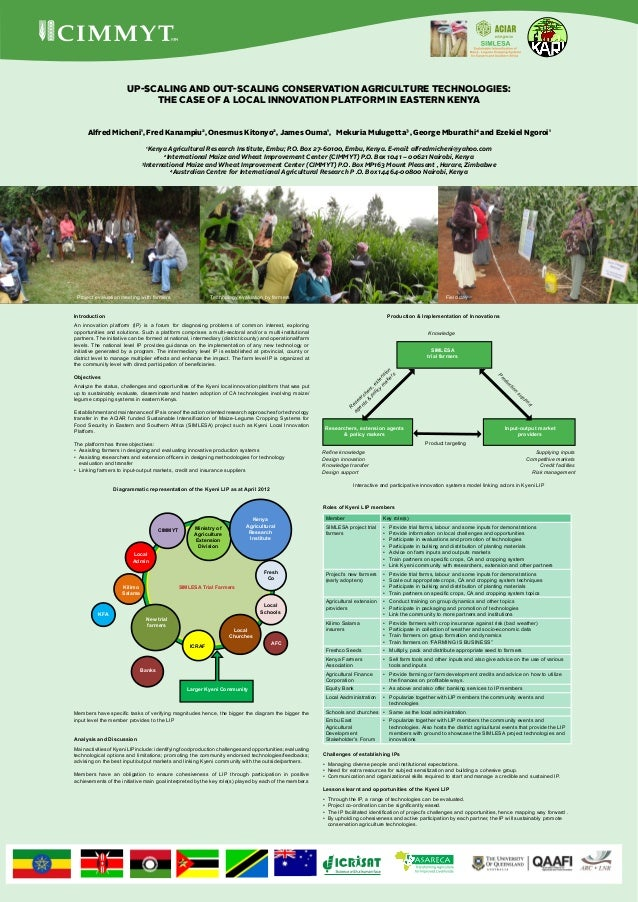 Up-scaling and out-scaling conservation agriculture technologies:                             The case of a local innovati...
