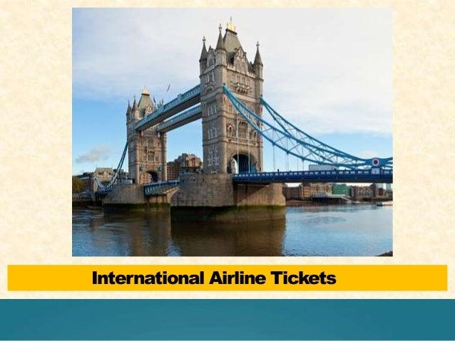 International Airline Tickets