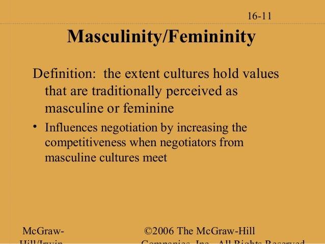 Nice ... 11. 16 11 Masculinity/Femininity Definition: ...