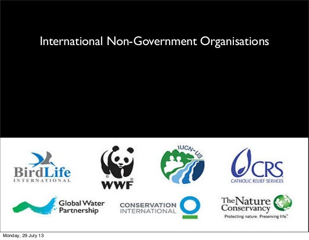 International Non-Government Organisations Monday, 29 July 13