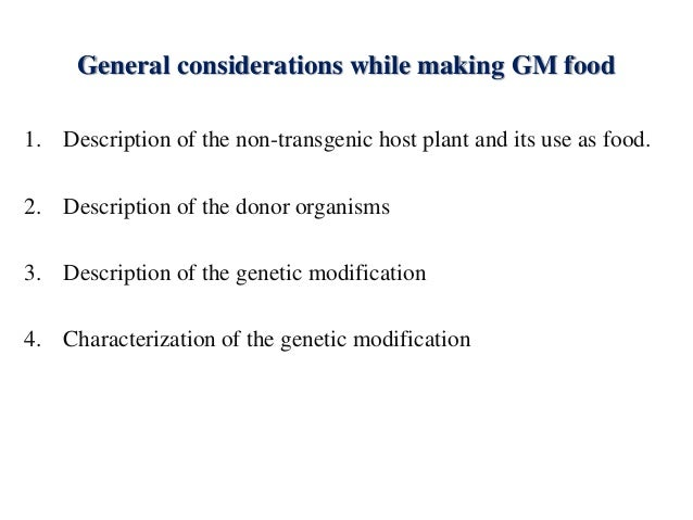 Social and Economic Issues – Genetically Modified Food