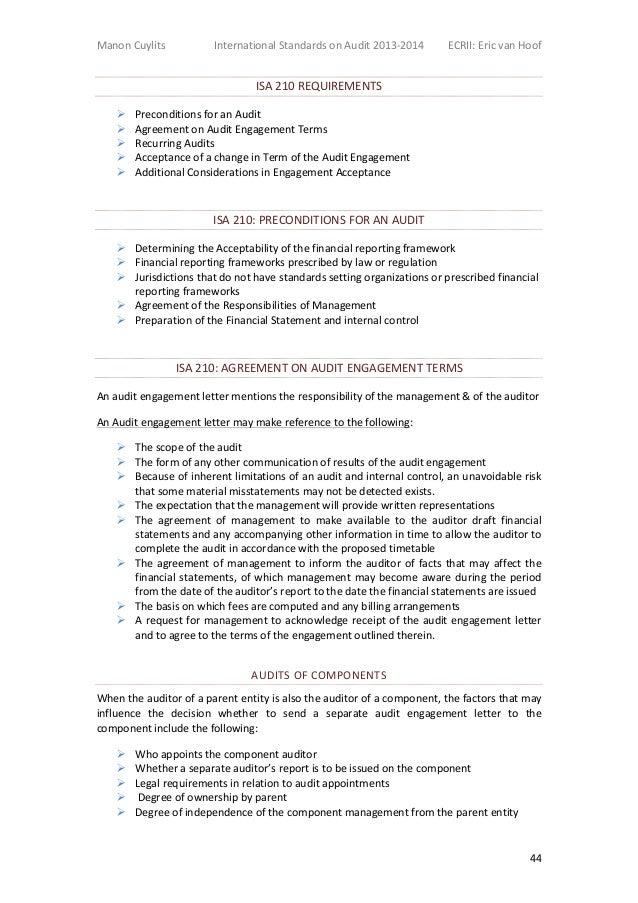 International Auditing Standards Isa
