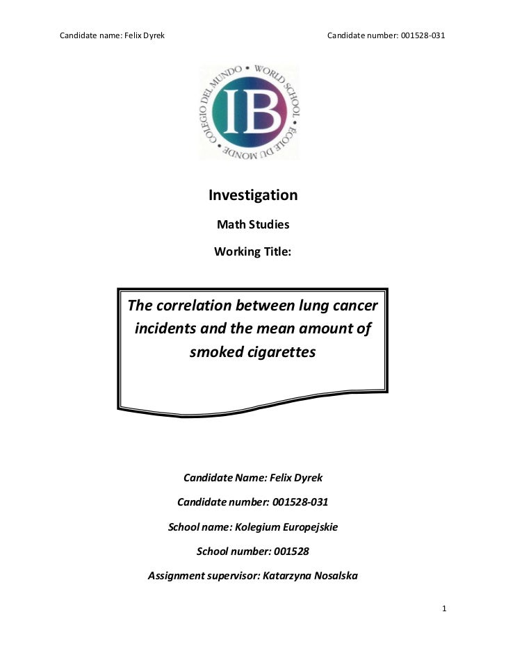International baccalaureate math sl investigation_the