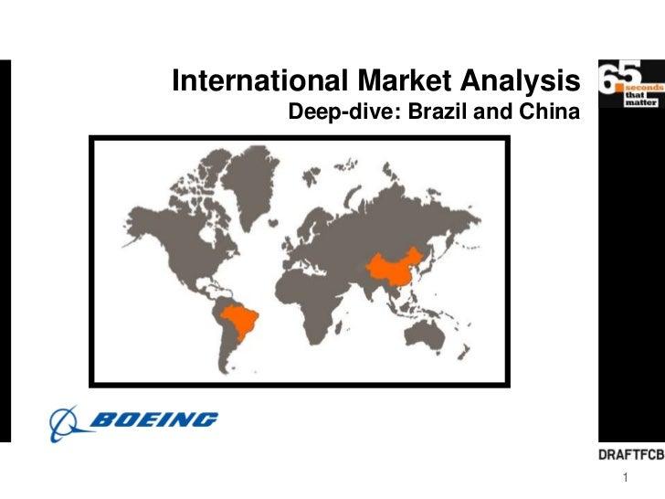 International Market Analysis        Deep-dive: Brazil and China                                      1