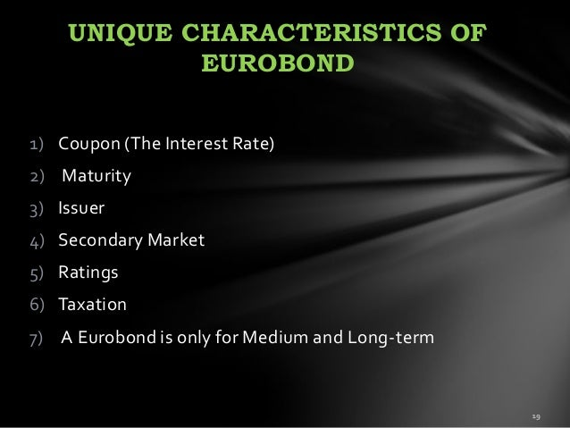 Glossary of Bond Terms