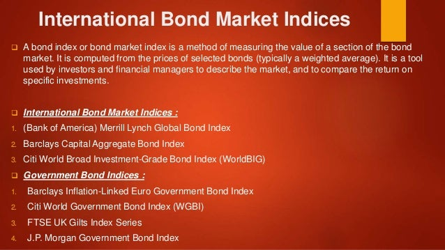 international bond markets International fixed income securities make up a significant portion of the global investable marketan allocation to international bonds can lead to lower average portfolio volatility over time cardiff call us toll free: 888 332 2238 sign in global bonds.