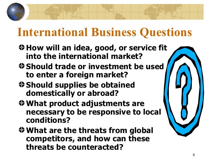 international management questions cede Answer to international management questions why should a company seek a global alliance over other forms of market entry what m.