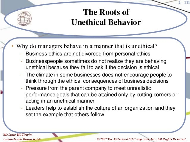 ethical obligations of a multinational business Ethical issues - learn international business management concepts in   multinational managers need to be sensitive to these varying differences and  able to.