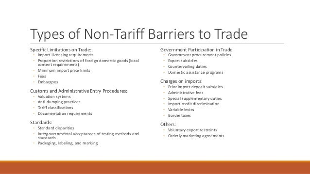 Why Some Countries Impose Restrictions Or Barriers To International