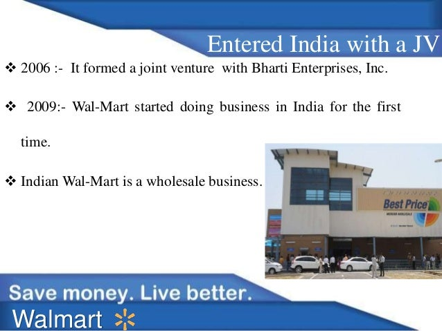 bharti walmart joint venture essay Home essays bharti walmart 5 forces  case study bharti & walmart essay  through the swot analysis and pros & cons analysis of the joint venture, .