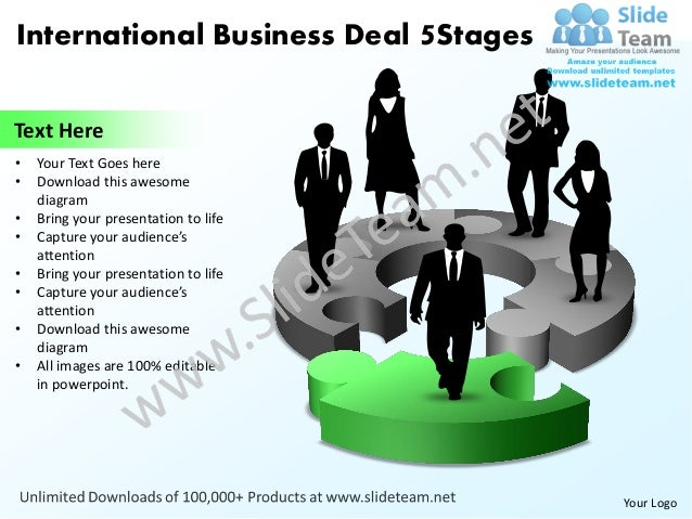 International business deal 5 stages powerpoint templates 0812 international business toneelgroepblik Image collections