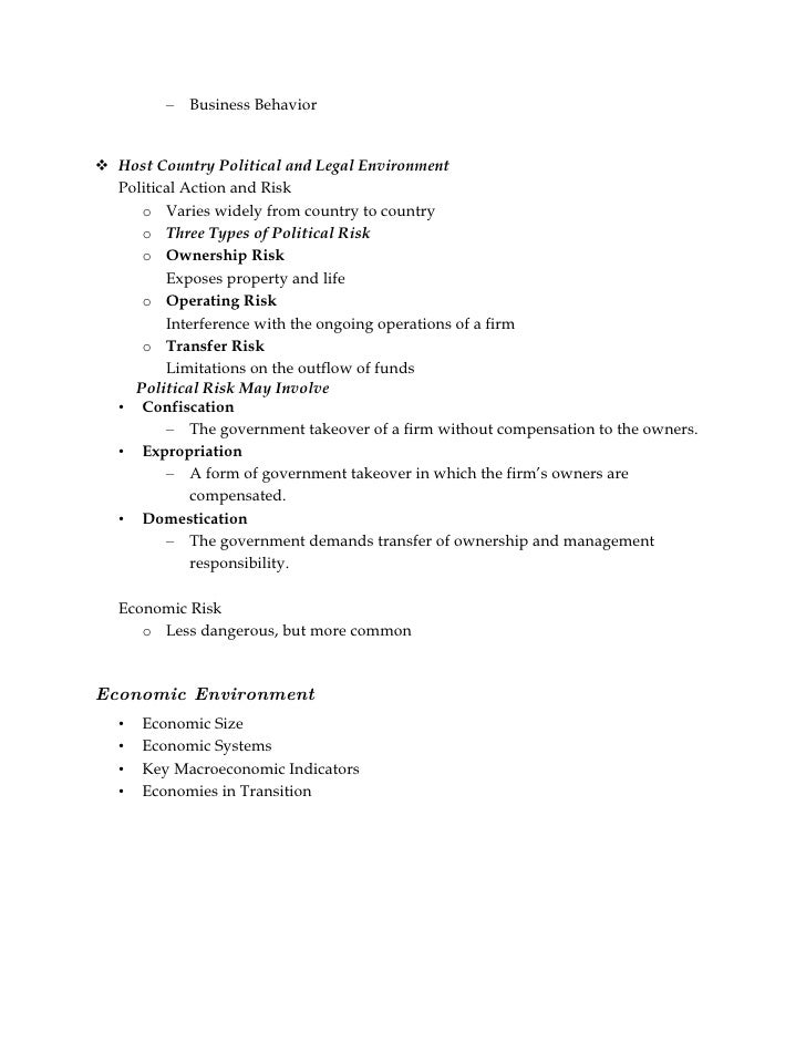 International Business Environment Full Syllabus