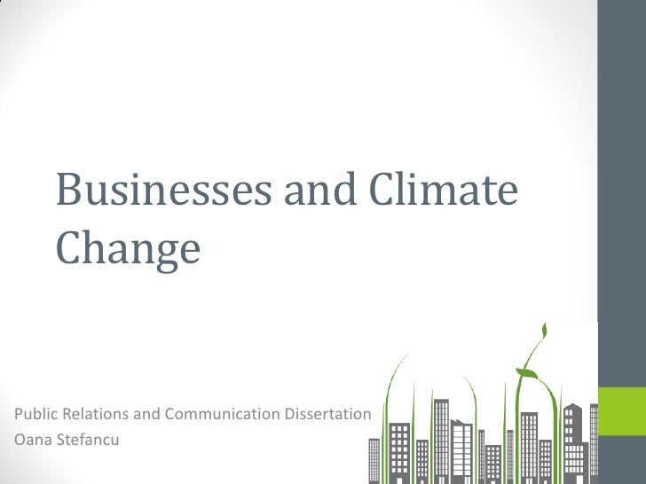 Businesses and Climate     ChangePublic Relations and Communication DissertationOana Stefancu