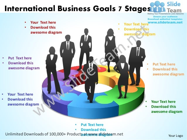 international business goals 7 stages powerpoint templates 0812
