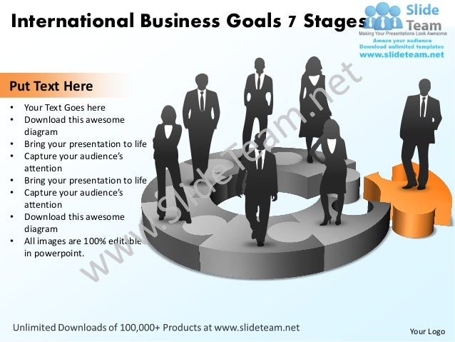 International business goals 7 stages powerpoint templates 0812 international business toneelgroepblik Images