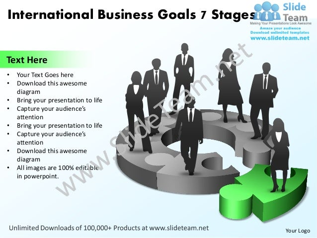 International business goals 7 stages powerpoint templates 0812 international business toneelgroepblik Image collections