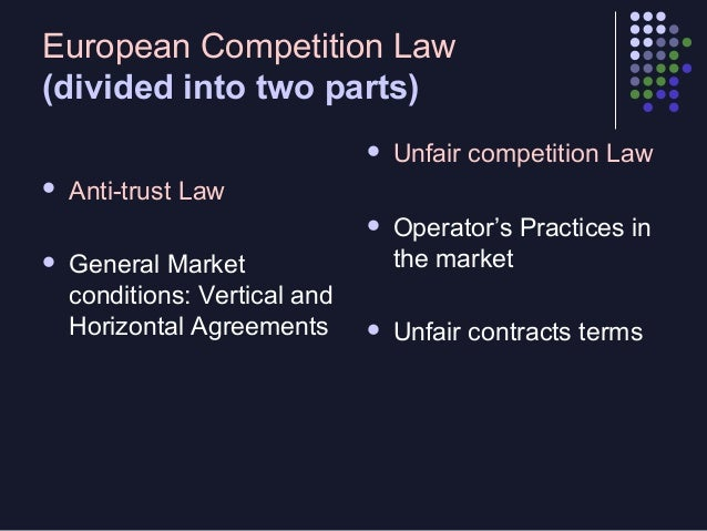 Unfaire Contract Terms in European Law  An  -  attempt to re-establish bargaining power between the parties by compensato...