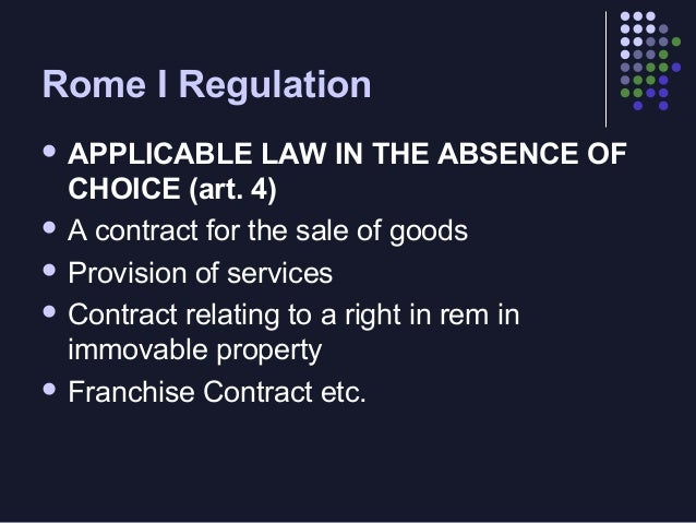Rome I Regulation  Mandatory  norms   Overriding  mandatory provisions (art. 9)   Mandatory  norms of an internal signi...
