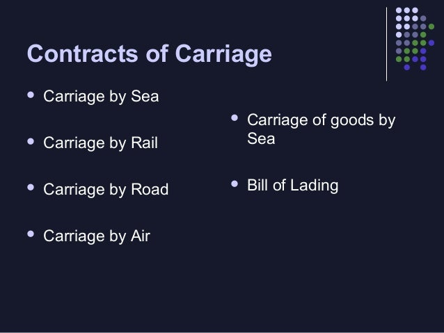 Bill of Lading (as a document of title)   It has de effect of a document of title if it is made clear on its face that it...