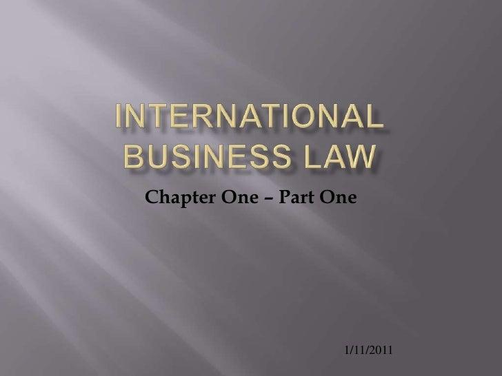 International business law intro 2011