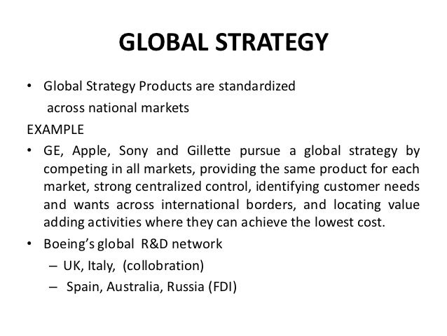 international business the strategy of international Multi-national corporations by virtue of their 'global' presence are top-of mind reference points when one thinks of international businesses.
