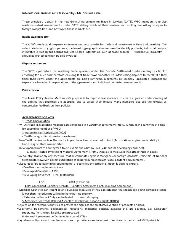 international business mumbai university solved paper  international business 2008