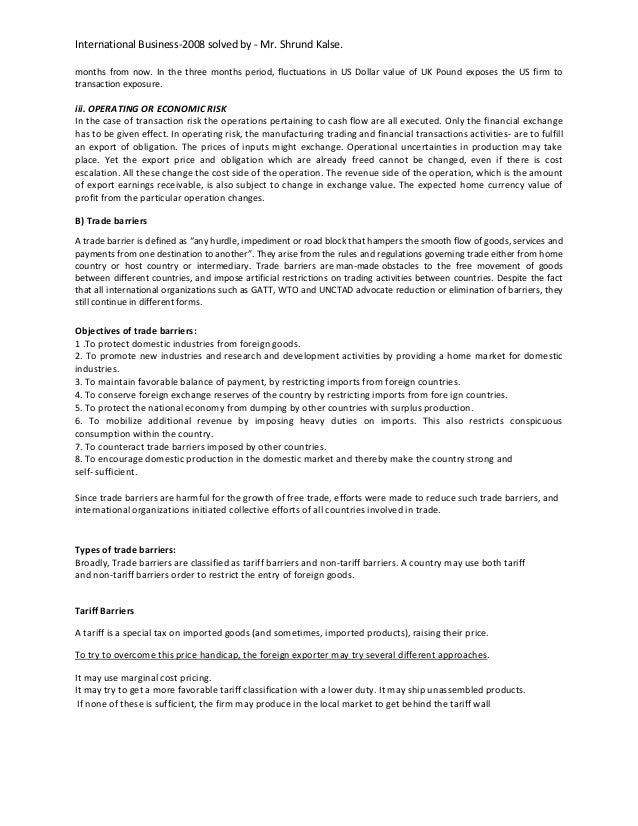 paper for international business Research in international business and finance (ribaf) seeks to consolidate its position as a premier scholarly vehicle of academic finance the.