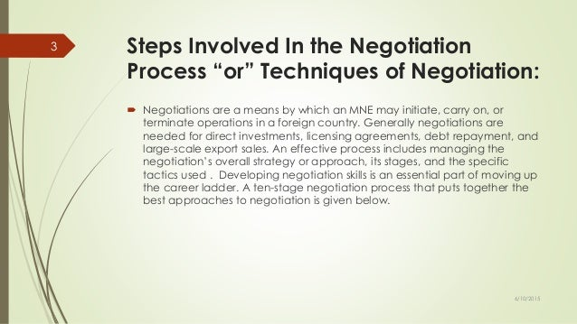 the six steps of the negotiation process essay Identify and describe the steps of the negotiation process the first step is collecting all the information stated in the guidelines section of this paper this will help randall and dolan be the prepared to put their best.