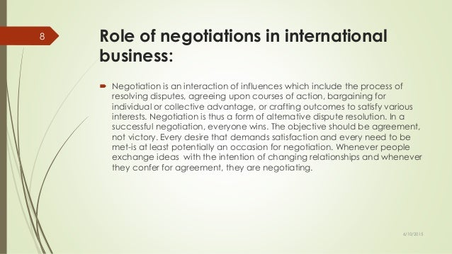 Tips on managing confrontational international negotiations