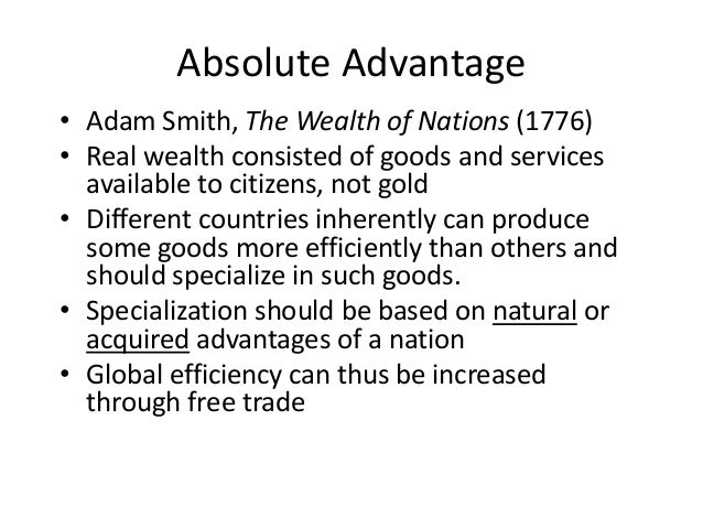 the value of gold and silver in the wealth of nations by adam smith For nations almost constantly on the verge of war, draining one another of valuable gold and silver was thought to be almost as desirable as the direct benefits of trade adam smith refuted the idea that the wealth of a nation is measured by the size of the treasury in his famous treatise the wealth of nations , a book considered to be the.