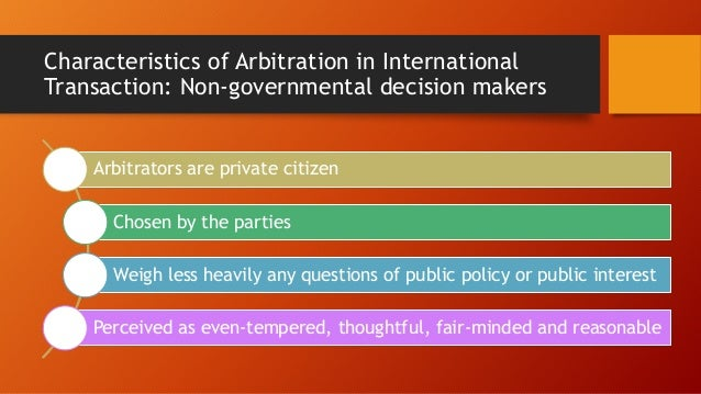important terms used in international commercial arbitration