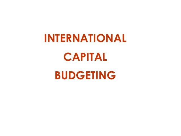 international capital budgeting Global financial market - international capital budgeting - notes - finance,  study notes for business administration banaras hindu university.