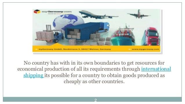 International cargo shipping services