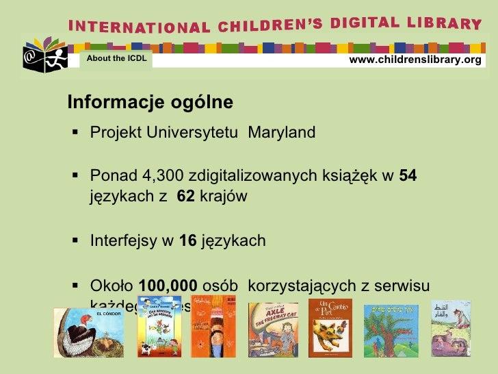 <ul><li>Projekt  Univers ytetu  Maryland </li></ul><ul><li>Ponad  4,300  zdigitalizowanych   książęk w  54  językach z   6...