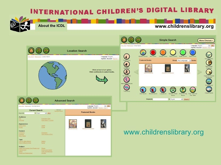 www.childrenslibrary.org About the ICDL