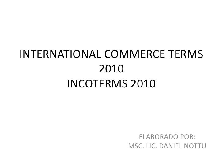 international commerce terms