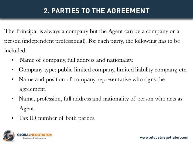 INTERNATIONAL COMMERCIAL AGENCY AGREEMENT TEMPLATE – Business Agency Agreement Template