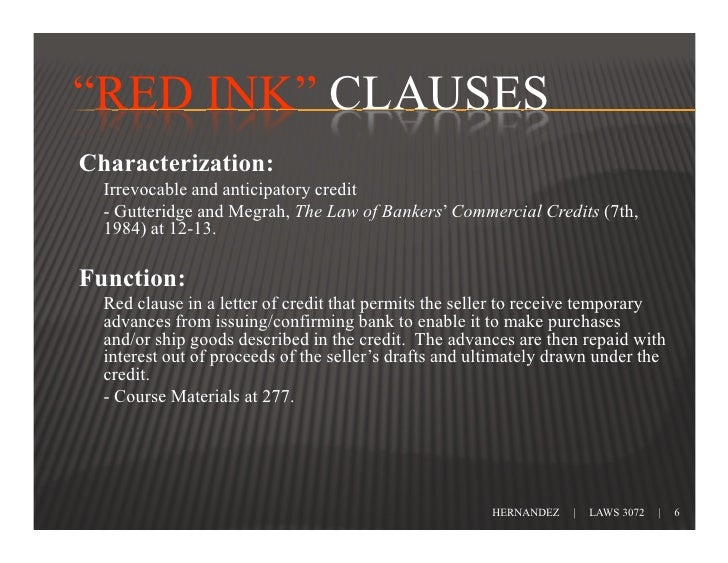 red clause letter of credit pdf