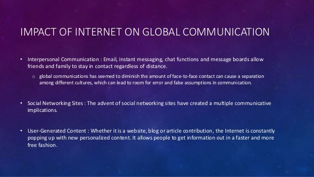 Impact of the internet on international business