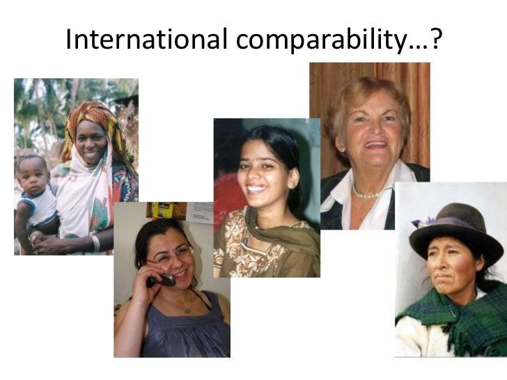 International comparability…?